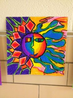 Students studied the Aztecs and also took a look a the Aztec Sun Stone and how it was inspiration for pieces of art. Students learned how t. Art Education Lessons, Art Lessons Elementary, Sun Stone, Warm And Cool Colors, Earth Tone Colors, Sun Art, Arts Ed, Aboriginal Art, Recycled Art