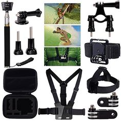 7 In 1 GoPro Go Pro Accessories Set for Gopro Hero 4 3+ 3 2 Sjcam SJ4000 SJ5000 SJ6000 SJ7000 Xiaomi Yi Wifi Action Camera set #Affiliate
