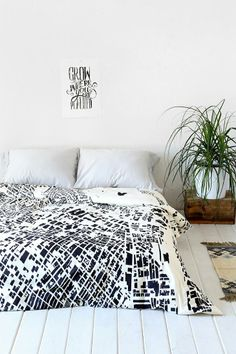 CityFabric Inc For DENY La White Duvet Cover #urbanoutfitters