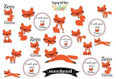 Zero Fox Given Sticker Sheet by SugaryGaLShop on Etsy