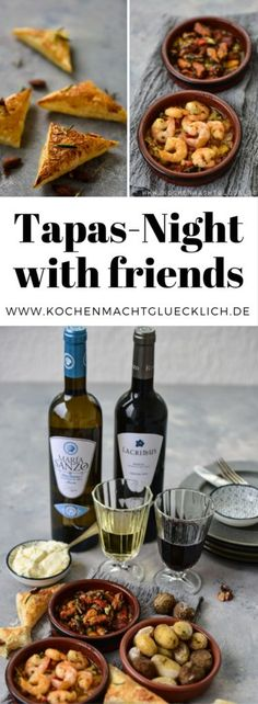 Tapas Friday with seafood - quickly made and great .- A tapas evening with friends is wonderful! Here you will find simple recipes with which you can quickly and easily prepare tapas yourself. Tapas Recipes, Healthy Dessert Recipes, Fruit Recipes, Fall Recipes, Seafood Recipes, Appetizer Recipes, Snack Recipes, Simple Recipes, Tapas Party