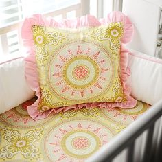 Pink Medallion Throw Pillow from PoshTots