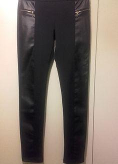 Kup mój przedmiot na #vintedpl http://www.vinted.pl/damska-odziez/legginsy/11560252-czarne-legginsy-zlote-zameczki-rozmiar-ml