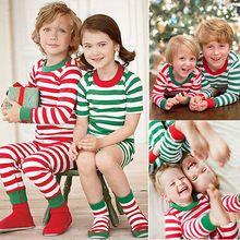 Fashion Cute Xmas Toddler Kids Girl Boy Clothes Sets Christmas Pyjamas Sleepwear Pajamas Set Age 1-7Y(China (Mainland))