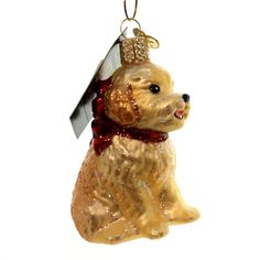 Old World Christmas Cockapoo Puppy Glass Ornament