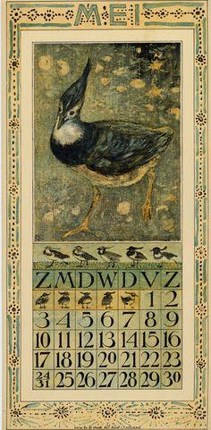 Theodoor van Hoytema, calendar 1908 may