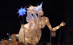 Christmas angel seen at Truro City of Lights, Cornwall. Christmas Is Coming, Christmas Angels, Christmas Lights, Christmas Decorations, Xmas, Christmas Travel, Coastal Christmas, Light Art, One Light
