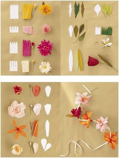 paper flower tutorial DIY: Great Ideas to make Paper Flowers ! Paper Flowers Craft, Paper Flowers Wedding, Giant Paper Flowers, Flower Crafts, Diy Flowers, Fabric Flowers, Crepe Paper Decorations, Tissue Flowers, How To Make Paper Flowers