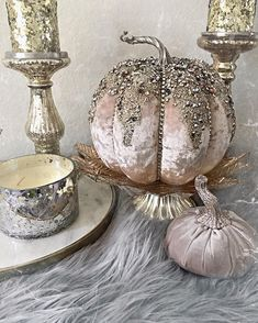 Pumpkins tend to be wonderful round, bright lemon, and in fall they mustn't be missing particularly on Halloween. Velvet Pumpkins, Fabric Pumpkins, Fall Pumpkins, Halloween Pumpkins, Fall Halloween, Thanksgiving Crafts, Thanksgiving Decorations, Fall Crafts, Halloween Decorations
