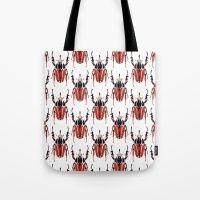 Beetles Throw Pillows Tote Bag