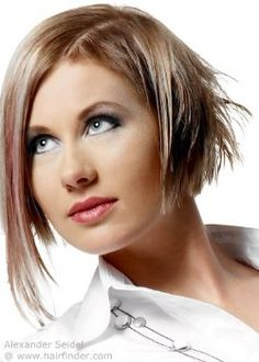 Hairstyles, haircuts, hair care and hairstyling. Hair cutting and coloring techniques to create today's popular hairstyles. Modern Hairstyles, Popular Hairstyles, Short Hairstyles, Colouring Techniques, Bobs, Layering, Hair Care, Lady, Hair Styles