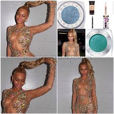 WOW @beyonce looked stunning. Beyonce makeup artist Sir John reveals what was used.  1. Mix L'Oreal Paris true match lumi liquid glow illuminator in Golden, and Rose on top of cheek. L'Oreal Paris pro-matte foundation to keep T-zone matte. 2. On her eyes, he popped her Tan skin by contrasting it with pale mint hued eyelids. The mod eye look was created with mix of L'Oreal Paris infallible eye shadow in Endless Sea, and Infinite Sky. 3. He created a Dear in Headlights look with L'Oreal Paris…