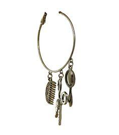 Hair Stylist Hoop Earrings BG Clear Crystal Scissor Comb Black