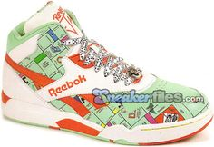Monopoly Reebok's! I don't know if I'd wear them, but I would definitely display them!