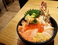 Tomi Don #instafocus #instaplace #instamood #instagood #instalike #instacool #travelgram #travelstagram #travel #instagramers #instagram #instfood #intafood #foodpics #foodporn #foodshot #foodshare #foodstyle #delicious #yummy #tasty #sushi #sushilover #sashimi #aburi #chutoro #sushibkk #salmon by fang_arpa