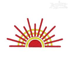 Sun Sunshine Embroidery Design