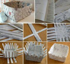 DIY paper basket:
