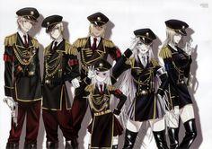 Kusanagi, Tatara, Rikio, Anna, Neko and Seri - Missing Kings
