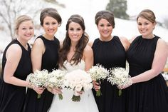 Winter wedding wonderland pictures! Click to see more photos by Shane Hawkins Photography