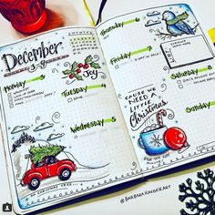 """18 Bullet Journal Tips And Tricks To Make 2020 More Productive Than Ever Get ready to dive into the world of """"BuJo. Bullet Journal Christmas, December Bullet Journal, Bullet Journal Hacks, Bullet Journal Notebook, Bullet Journal Spread, Bullet Journal Ideas Pages, Bullet Journal Layout, Bullet Journal Inspiration, Bullet Journal Birthday Tracker"""