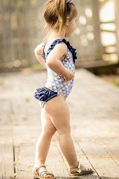 Adding a Ruffle Bum to the Laelia Swimsuit • Sunflower Seams Girls Swimming, Pdf Sewing Patterns, Ruffles, Swimsuits, Brand New, Legs, Fashion, Moda, Fashion Styles