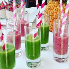 Smoothie shots from Voss Bottle, Water Bottle, Smoothie, Shots, Spirit, Photo And Video, Drinks, Instagram, Smoothies