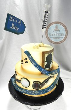 Sherlock Holmes Baby Shower Cake