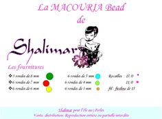 Beautiful bead La Macouria created by Shalimar and pattern for it!                  [ad name=