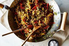 Jerk-Spiced Chicken Hakka Noodles, a recipe on Food52
