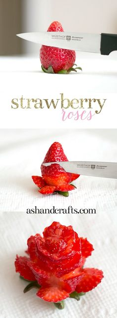 How to make roses out of strawberries