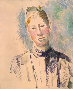 Collection Online | Paul Cézanne. Madame Cézanne. 1885–87 - Guggenheim Museum