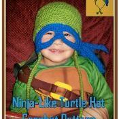 Ninja-Like Turtle Hat Crochet Pattern  - via @Craftsy