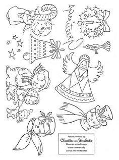 Vintage Christmas embroidery patterns -  by cmartian, via Flickr