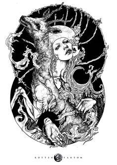 Detailed, occult illustrations by Rotten Fantom