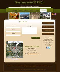 Website for the Restaurant El Pilón in Cómpeta