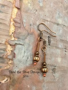 Hand Made Heart Earrings by Traebetruedesign on Etsy