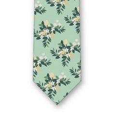 Lemon Blossom Mint Tie - Knotty Tie Co.