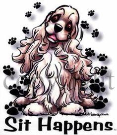 American Cocker Spaniel, Cocker Spaniel Dog, English Cocker Spaniel, Springer Spaniel, Spaniels, Cavalier King Charles, Dog Art, Puppy Love