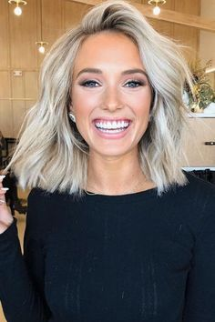 20 Short Blonde Hairstyles to Bring Straight to the Salon 20 Short Blonde Hairstyles to Bring Straight to the Salon,Big Southern Hair From fringed bobs to blunt lobs to textured crops, these short haircuts. Curly Hair Styles, Medium Hair Styles, Brown Blonde Hair, Short Blond Hair, Blonde Hair Long Bob, Blunt Blonde Bob, Dying Hair Blonde, Medium Length Hair Blonde, Blonde Bob With Fringe
