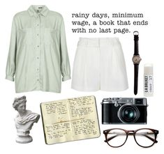 """""""10:19"""" by m-u-s-e ❤ liked on Polyvore featuring Topshop, Toast, sass & bide, Market and Moleskine"""