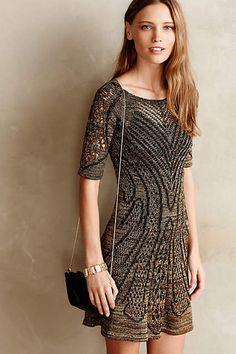 7fd1a07d4be9 Anthropologie Obrizus Dress by Cecilia Prado, Metallic knit