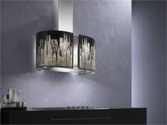 "Contemporary Range Hood & Ventilation from Futuro Futuro, Model: 34"" Murano ""New York"" Island Range Hood"