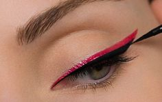 Pick the perfect eyeliner color for your look. Pick the perfect eyeliner color for your look. Double Eyeliner, Red Eyeliner, Eyeliner Looks, How To Apply Eyeliner, Edgy Makeup, Eye Makeup Tips, Makeup Inspo, Makeup Inspiration, Waterproof Eyeliner Pencil