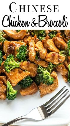 This stir-fry recipe for Chinese Chicken & Broccoli in a brown sauce is quick, easy, and on the table in just 30 minutes. via @Erren's Kitchen