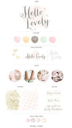 hello lovely branding design