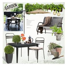 """""""Garden time"""" by helenevlacho ❤ liked on Polyvore featuring interior, interiors, interior design, home, home decor, interior decorating, Home Styles, Woolly Pocket, Dot & Bo and Crate and Barrel"""