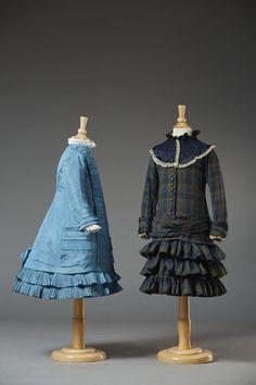 Two dresses for young girl age 6-7, ca. 1877-1882. Musée du Costume et de la Dentelle