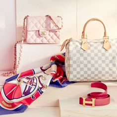 Accessories from Chanel, Louis Vuitton, and Hermès. What more could a girl ask for?