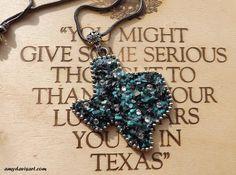 Turquoise TEXAS Necklace by AmyDavisArt