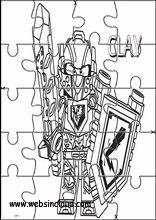 Druckbare Puzzle Lego Nexo Knights6